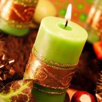 Новогодние свечи как элемент декора