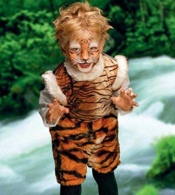 Костюм тигра для ребенка на Новый год