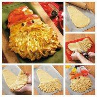 Хлеб на Новый год «Дед Мороз»
