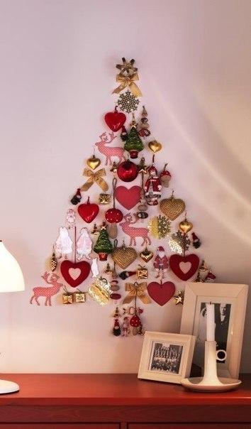 Новогодний декор: настенная елка