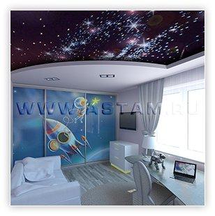 Образцы натяжных потолков «Звездное небо»