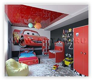 Как подобрать натяжной потолок для комнаты мальчика
