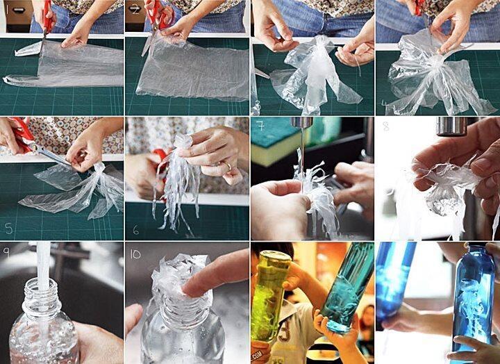 Как сделать медузу в бутылке