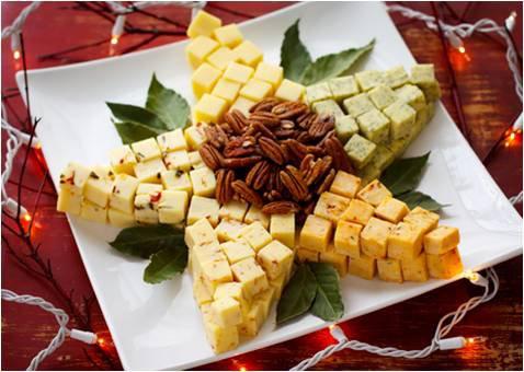 Новогодняя сырная тарелка