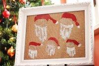 Оригинальная новогодняя картина «Семейка Санты»