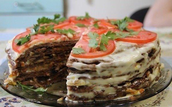 Печеночный торт к Новому году