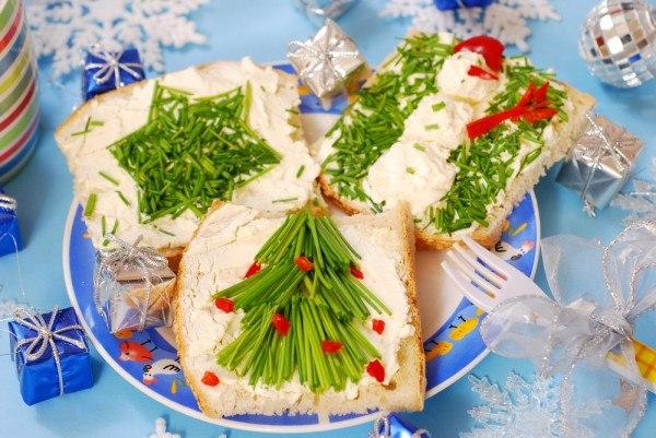 Новогоднее украшение бутебродов