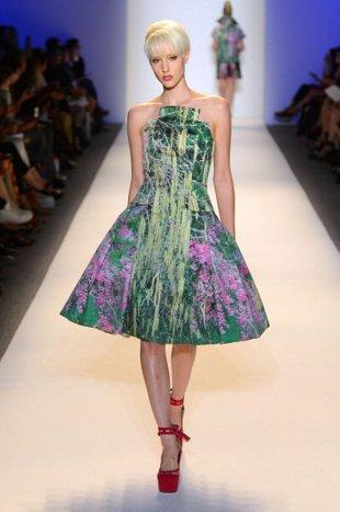 Модные платья с цветочным принтом 2014
