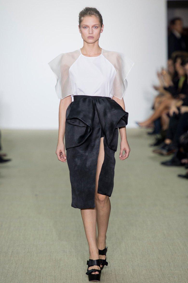 Модные асимметричные юбки 2014
