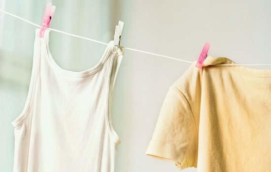 Как отстирать желтые пятна от пота