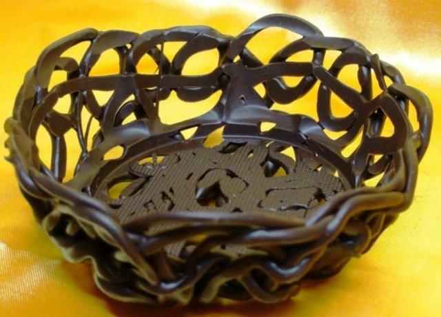 Как сделать шоколадную корзинку