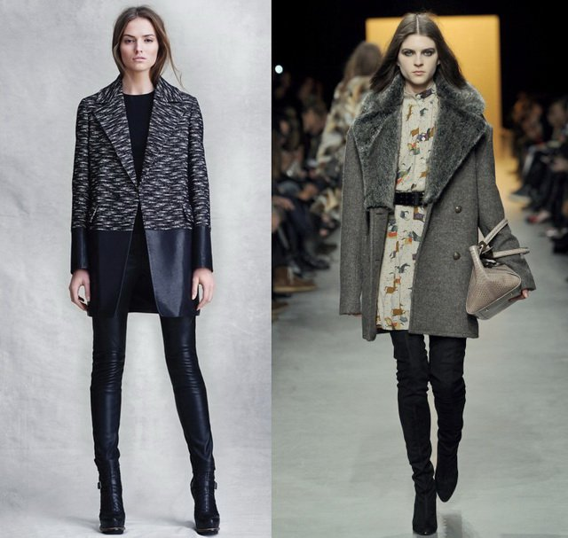Модные пальто 2014: пальто мужского кроя
