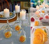 Идея сервировки стола розами на День святого Валентина