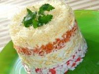 Слоеный салат «Нежность»