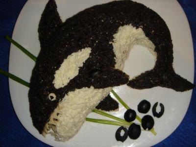 Рыбный салат «Касаточка»