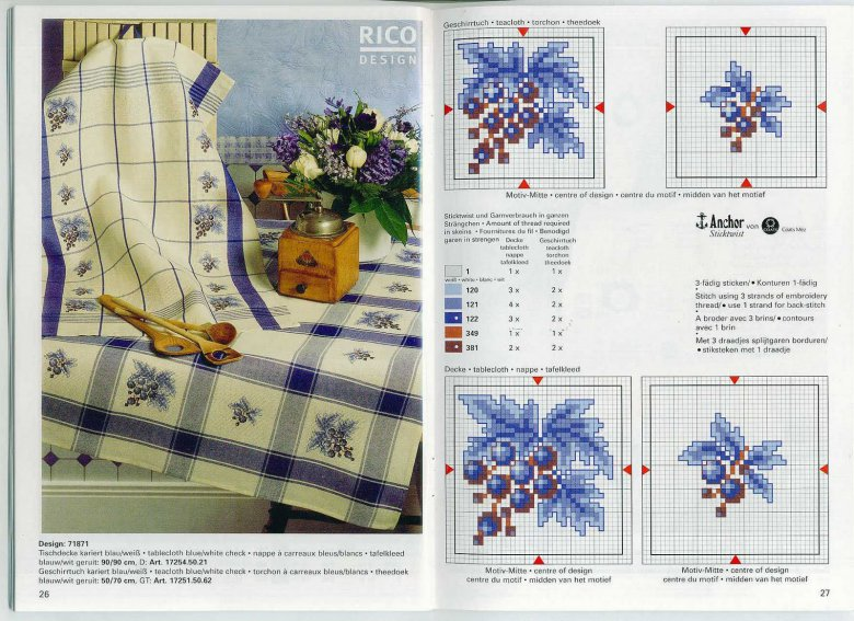Схема вышивки крестом «Кухонные мотивы: смородина»