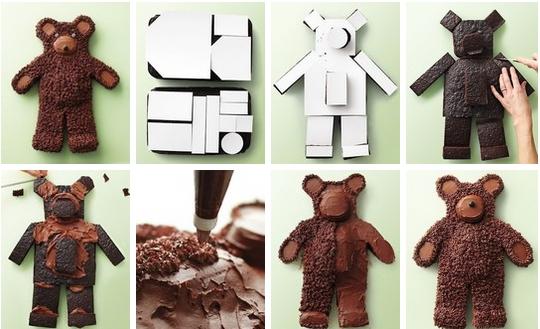 Учимся оформлять торт в форме медведя