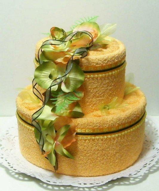 Как сделать многоярусный торт из полотенец