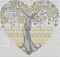 Схема вышивки «Дерево любви»