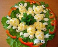 Закуска из яиц «Черепашки»