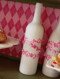 Украшаем бутылки на День святого Валентина