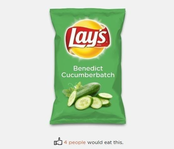 Lay`s со вкусом Benedict Cucumberbatch