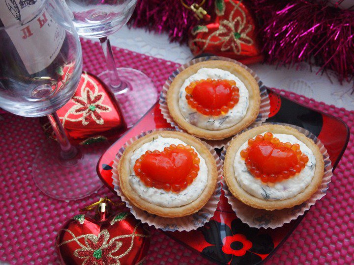 Тарталетки на День святого Валентина: «Красное сердце»