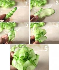 Как сделать розу из огурца
