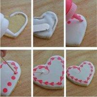 Простое и милое украшение печенья на День святого Валентина