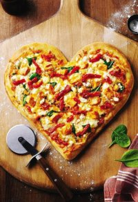 Пицца-сердце на День святого Валентина: 5 вариантов теста  и не только