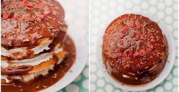 Мини-торт на День святого Валентина