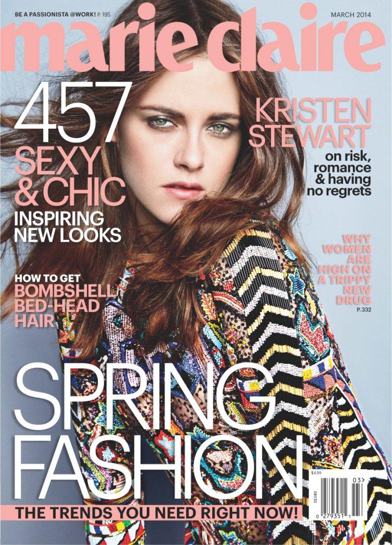 Кристен Стьюарт на обложке журнала Marie Claire