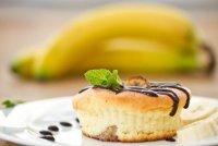 Порционные творожные запеканки с бананами