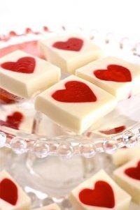 Желейные сердечки на День святого Валентина