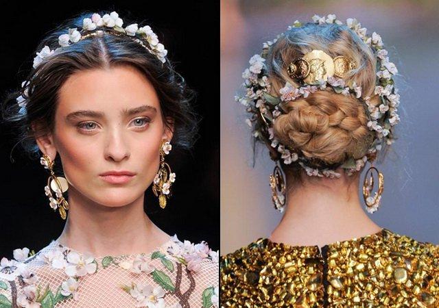 Модные новинки весна-лето 2014: цветы в волосах