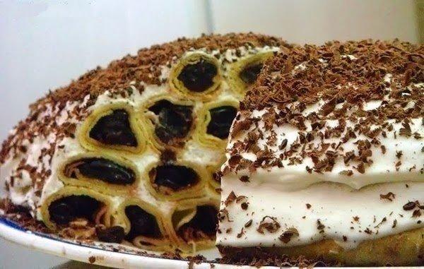 Торт «Дрова под снегом»