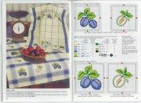 Схема вышивки крестом: «Кухонные мотивы: слива»