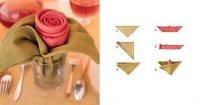Идея сервировки стола на 8 Марта: салфетки-розы