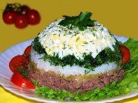 Простой печеночный салат