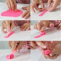 Розочки из мастики для сладких подарков