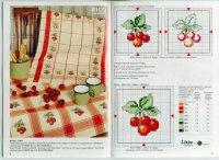Схема вышивки крестом: «Кухонные мотивы: вишня»