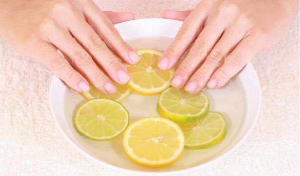 Маска для ногтей с йодом и лимонным соком
