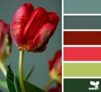 Весенняя палитра красок для дизайна интерьера