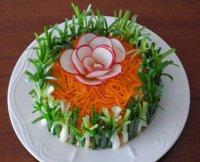 Салат «Изабелла» с морковкой по-корейски