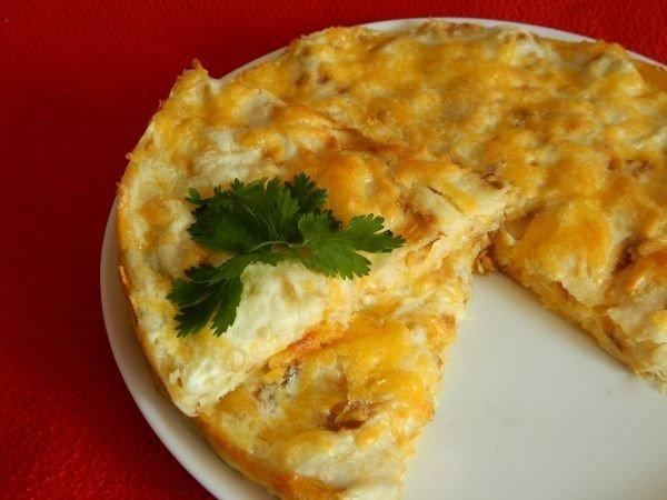 Простой пирог из лаваша с сыром