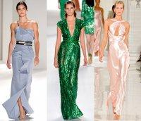 Платье из блестящих тканей - тренд сезона