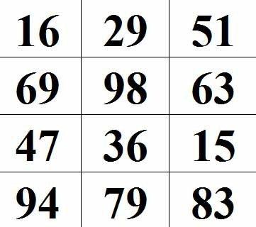 Таблица для проверки памяти