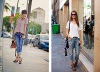 С чем носить джинсы-бойфренды?