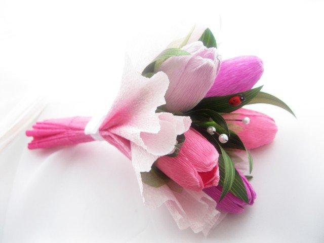 Как сделать тюльпаны из конфет