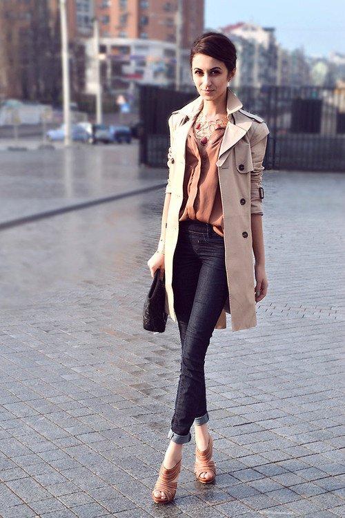 Как носить джинсы-скинни